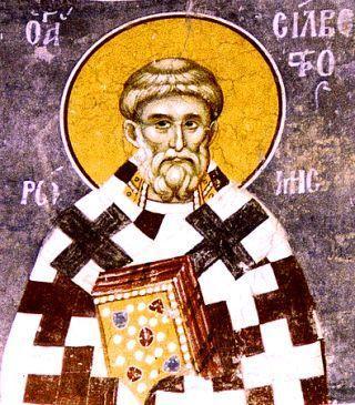 лик святителя Сильвестра Римского, епископа, святителя