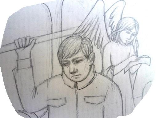 ангел хранитель за спиной